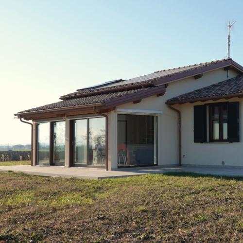 Casa in legno abitabile 120 mq