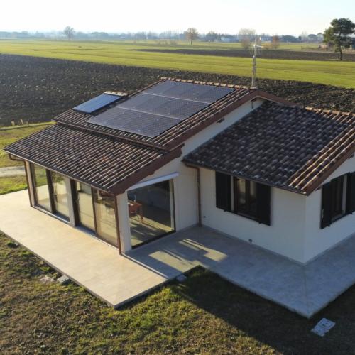 Casa in legno abitabile da 120 mq